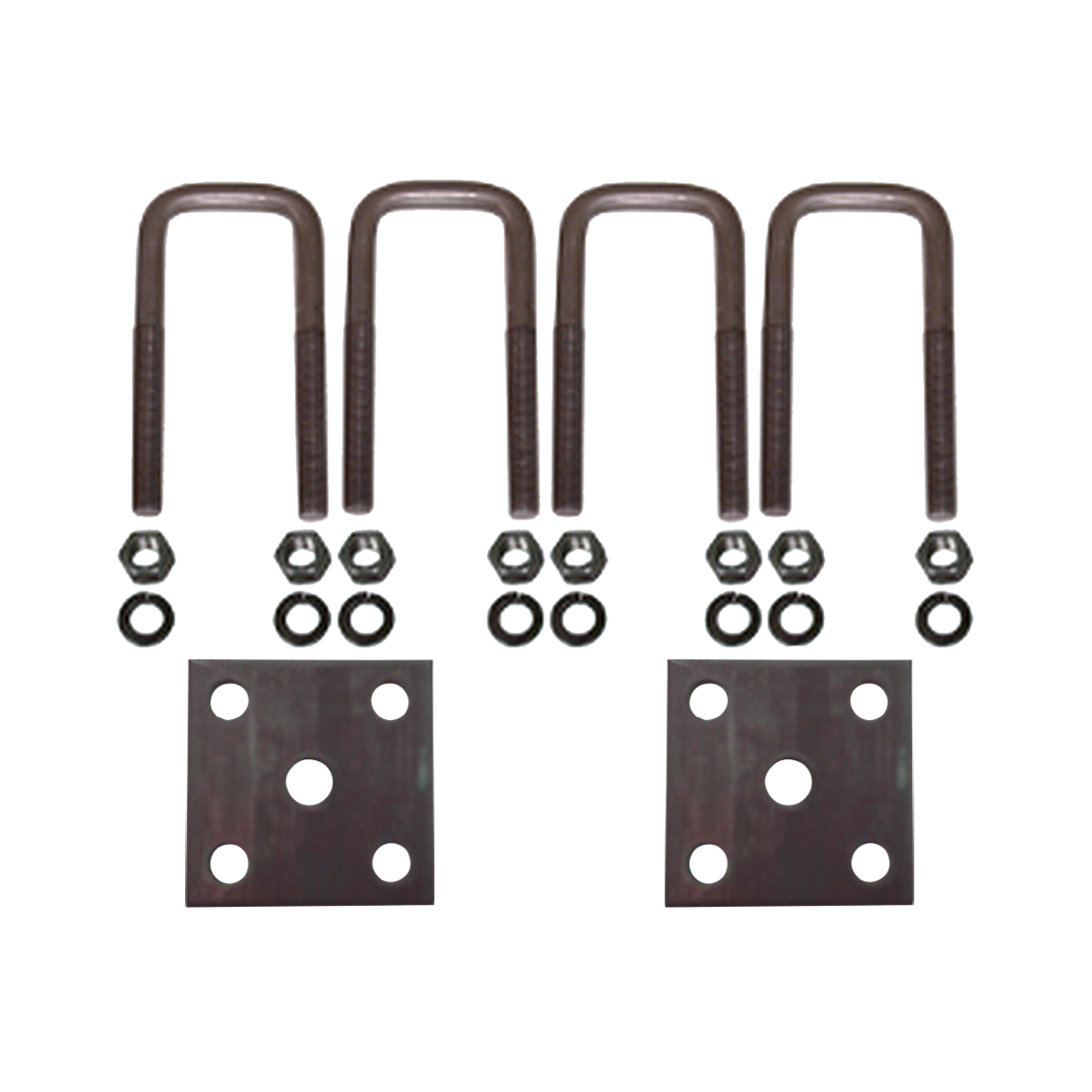 """USP45 --- 1-3/4"""" Square U-Bolts and Axle Plates for 1-3/4"""" Wide Springs"""