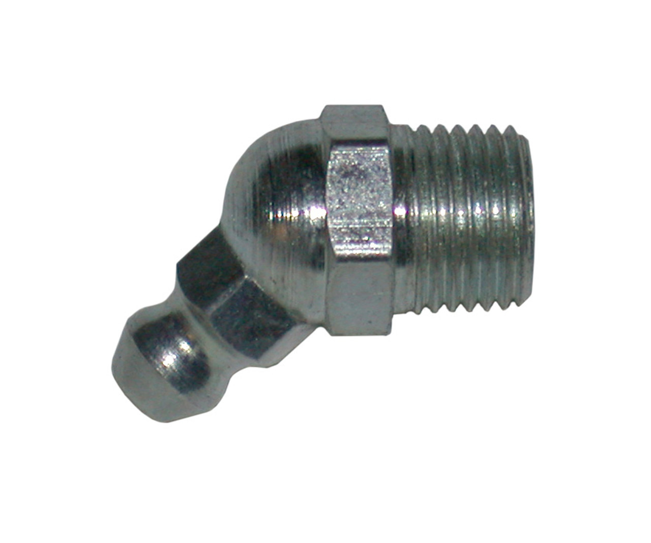 """GFA45 --- Grease Fitting - 45 Degree Angle - 1/8"""" pipe thread"""