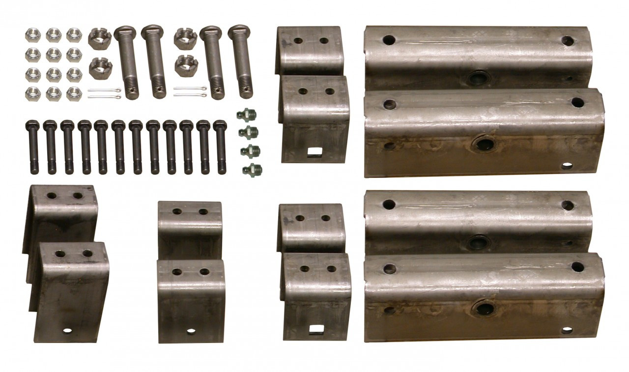 "GSHK3 --- Triple Axle Hanger Kit for 2"" Wide Slipper Spring w/Grease Bolts"