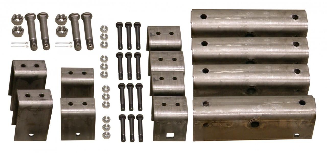 """HSHK3 --- Triple Axle Hanger Kit for 2"""" Wide Slipper Spring Heavy Duty"""