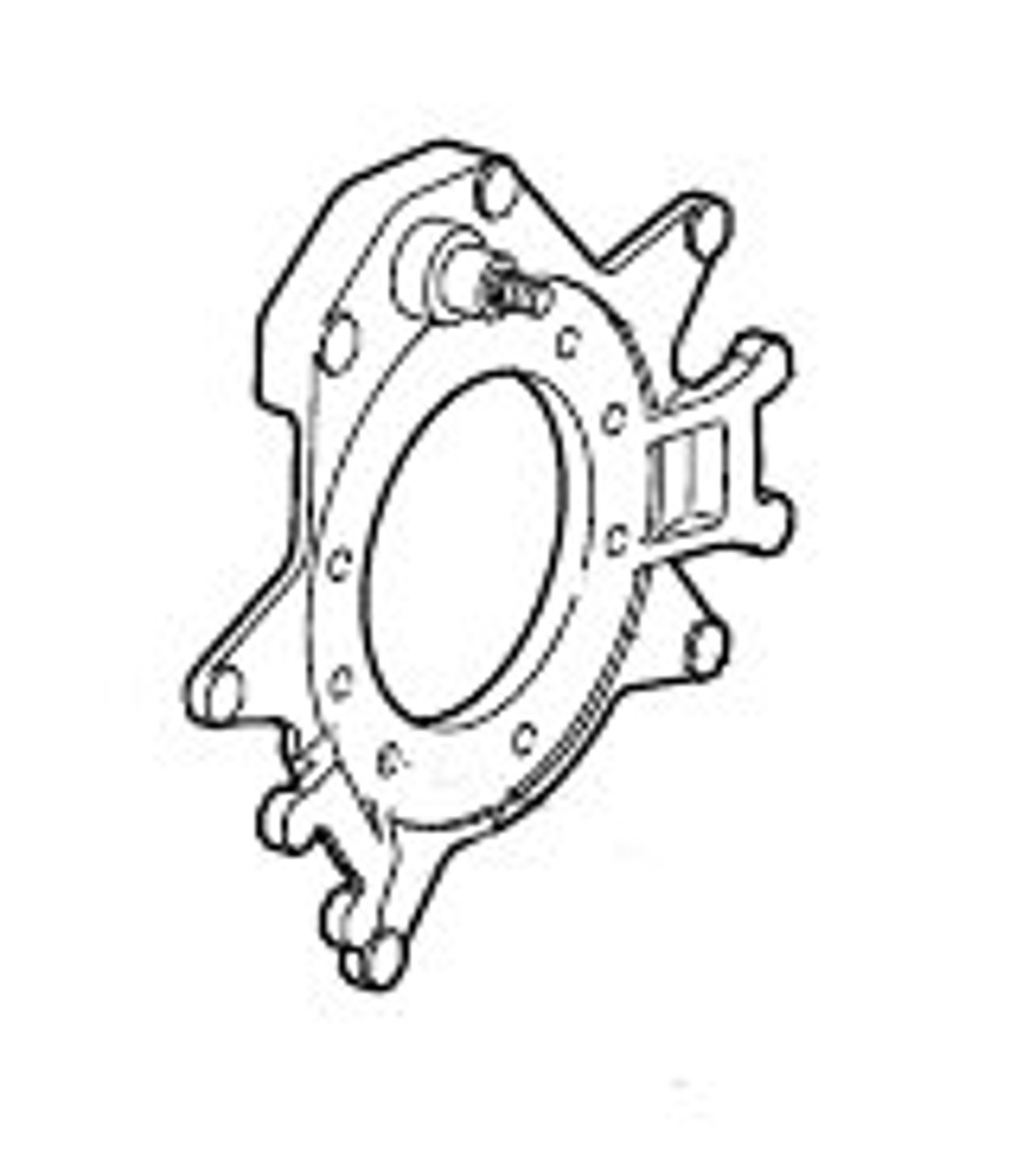 36-120-02 --- Cast Backing Assembly for 10k to 15k Capacity Dexter Electric Brakes