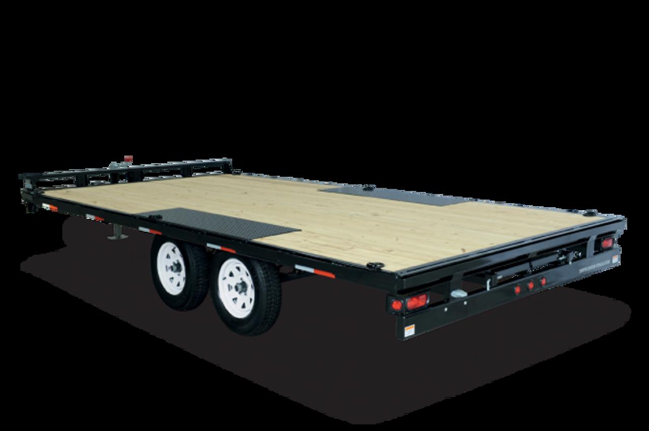 Flat Deck Trailer >> Stlpd10218ta3 102 X18 Low Profile Flatdeck Deckover