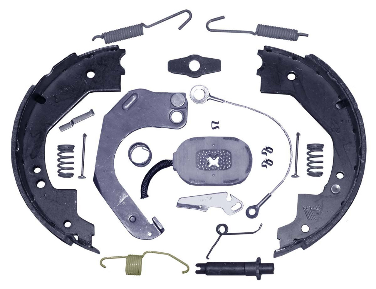 "23-468 --- 10"" Nev-R-Adjust Electric Brake Assembly - 3.5K - Left Hand"