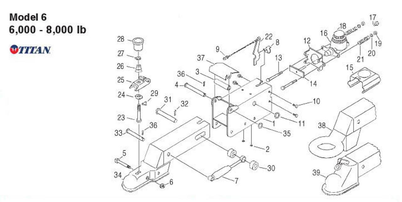 Model 6 - Titan Parts Breakdown by Dexter Marine
