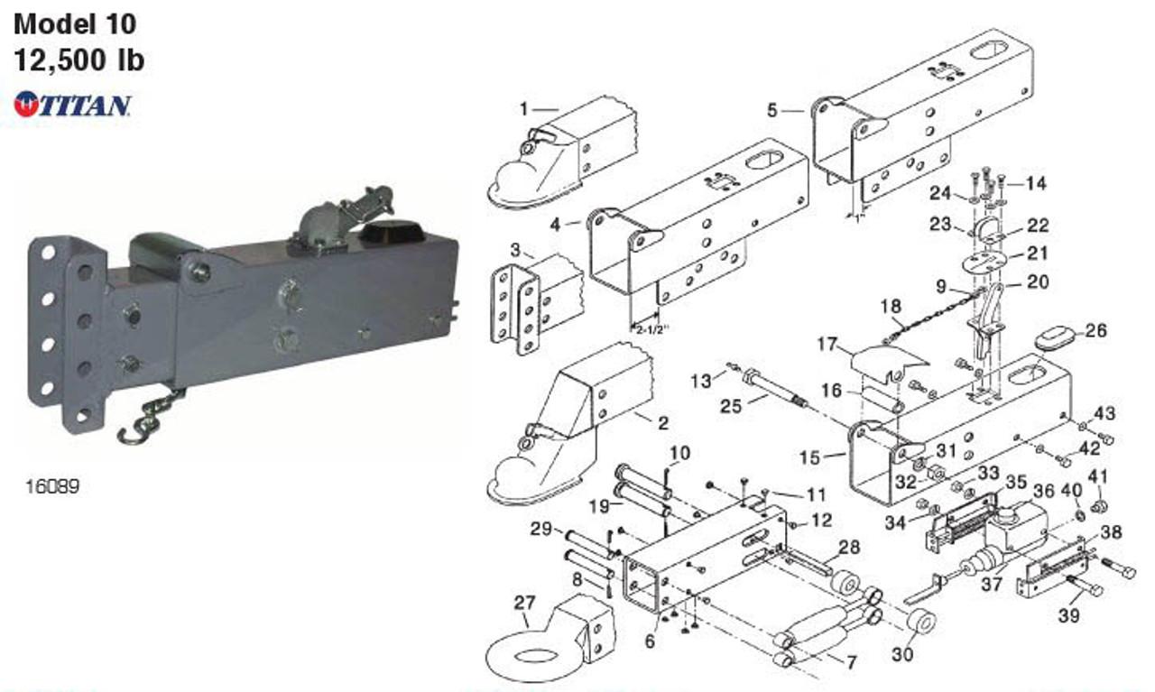 Model 10 - Titan Parts Breakdown by Dexter Marine