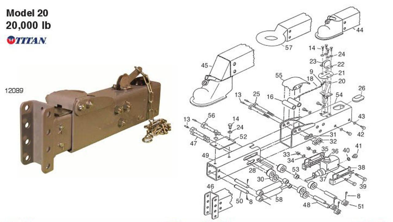 Model 20 Titan Parts Breakdown By Dexter Marine
