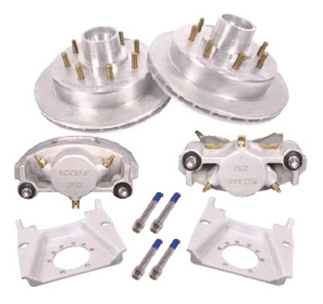 """KOD-133-72-10 --- 13"""" Kodiak Disc Brake Kit for 7,200 lb Dexter Axles Only - 5/8"""" Studs - 8 on 6-1/2"""" - Pair"""