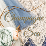 Champagne Sea - Blue and Champagne Wedding Color Inspiration