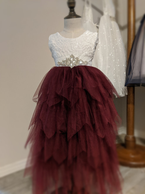 Gorgeous Gia Dress in Wine