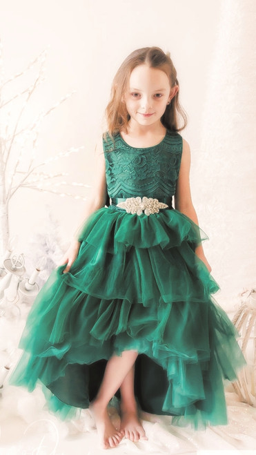 Emerald Crystal Ball Gown
