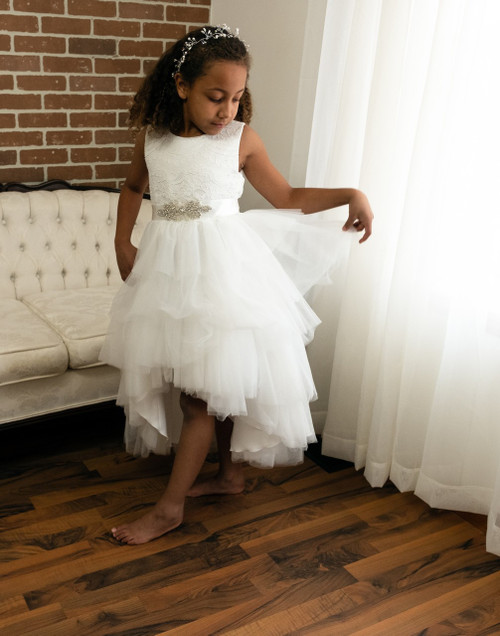 White Crystal Ball Gown