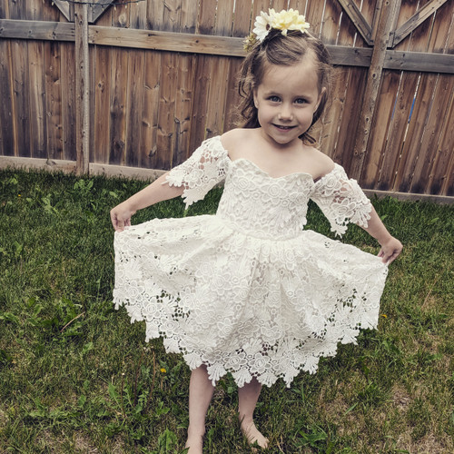 Tabatha Lace Flower girl Dress