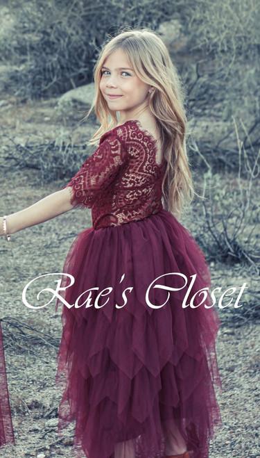 Ayla Rae Gia Skirt in Wine