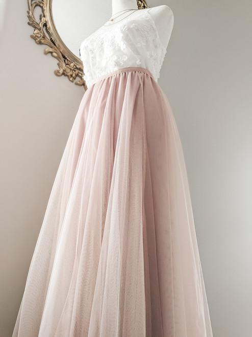 Women's Petal Skirt in Blush