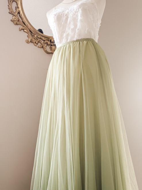 Women's Petal Skirt in Willow Green