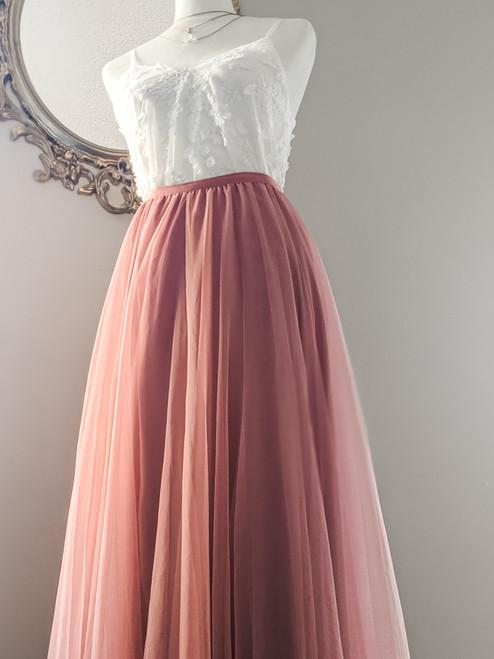 Women's Petal Skirt in Watermelon