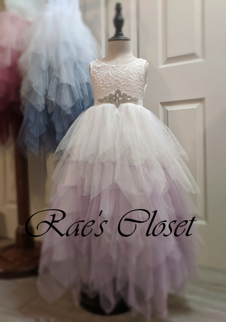Lilac Ombre Dress shown with Heirloom Crystal belt