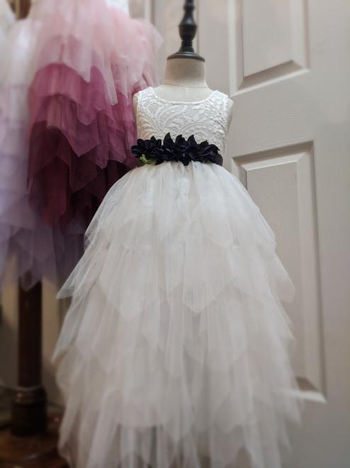 Gorgeous Gia Dress in Warm White Sleeveless