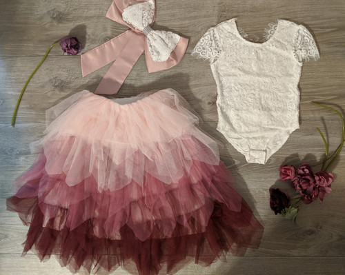 Cranberry Ombre Gia Skirt