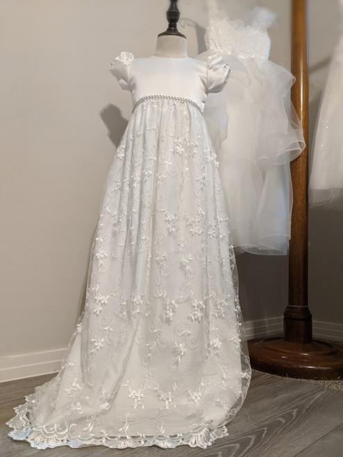 White Luna Baptism Gown