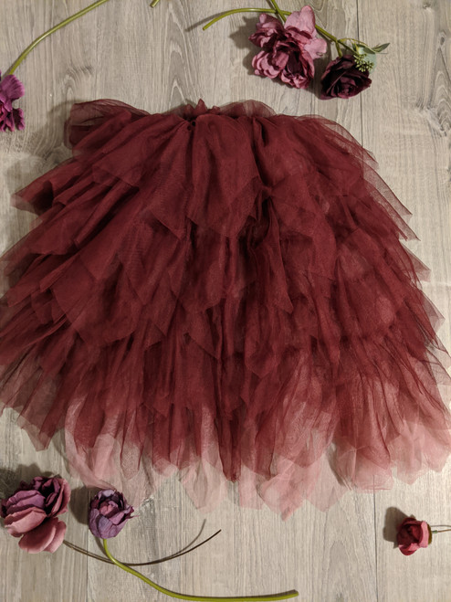 Gorgeous Gia REVERSIBLE Skirt in Wine and Rose