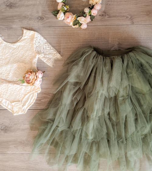 Sage/Moss Green Gia Skirt