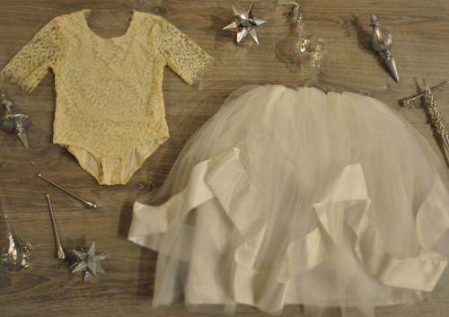 Ayla Rae Cream Lace Bodysuit and White Hailey Skirt