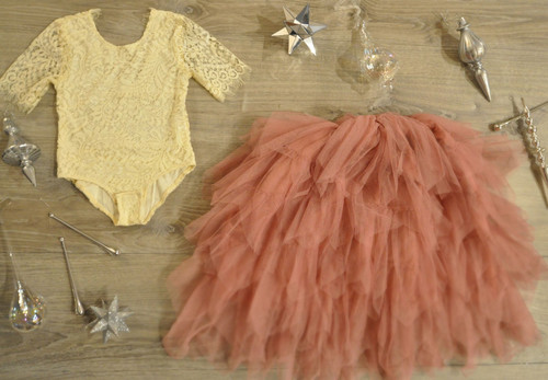 Ayla Rae Cream Lace Bodysuit and Rose Gia Skirt