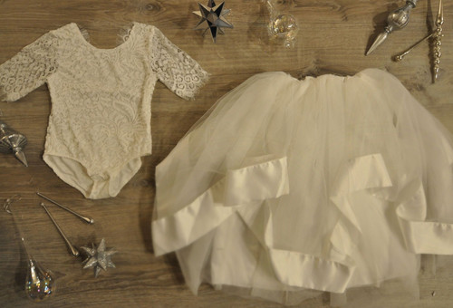 Ayla Rae White Lace Bodysuit and White Hailey Skirt