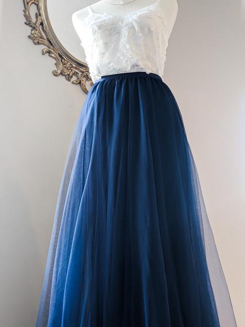Women's Petal Skirt in Navy