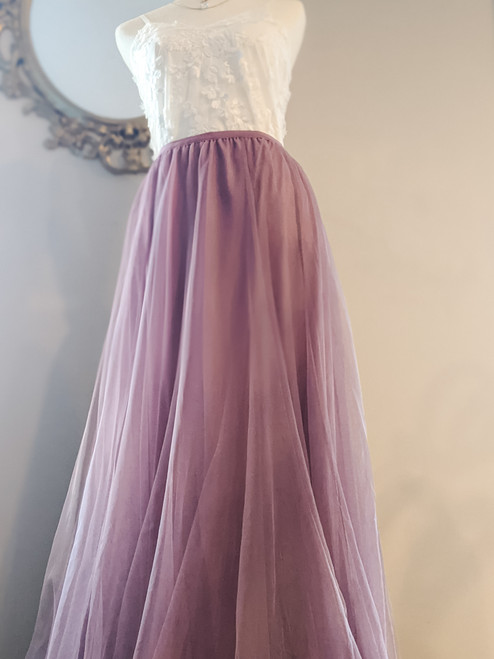 Women's Petal Skirt in Mauve