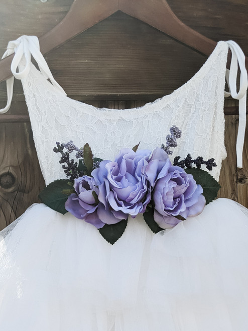 Lavender Flower Belt