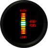 Air-Fuel Ratio LED Digital Bargraph Black Bezel - M7008