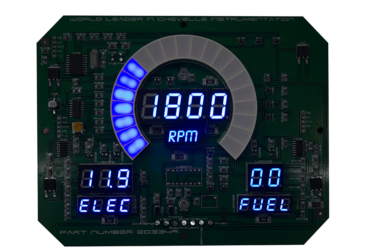 68 Chevelle LED Digital Panel TACHOMETER