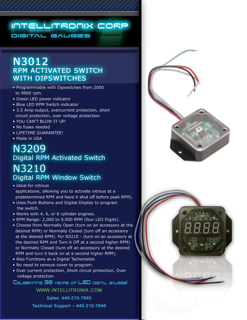 RPM Activated Switch with Dipswitches BROCHURE