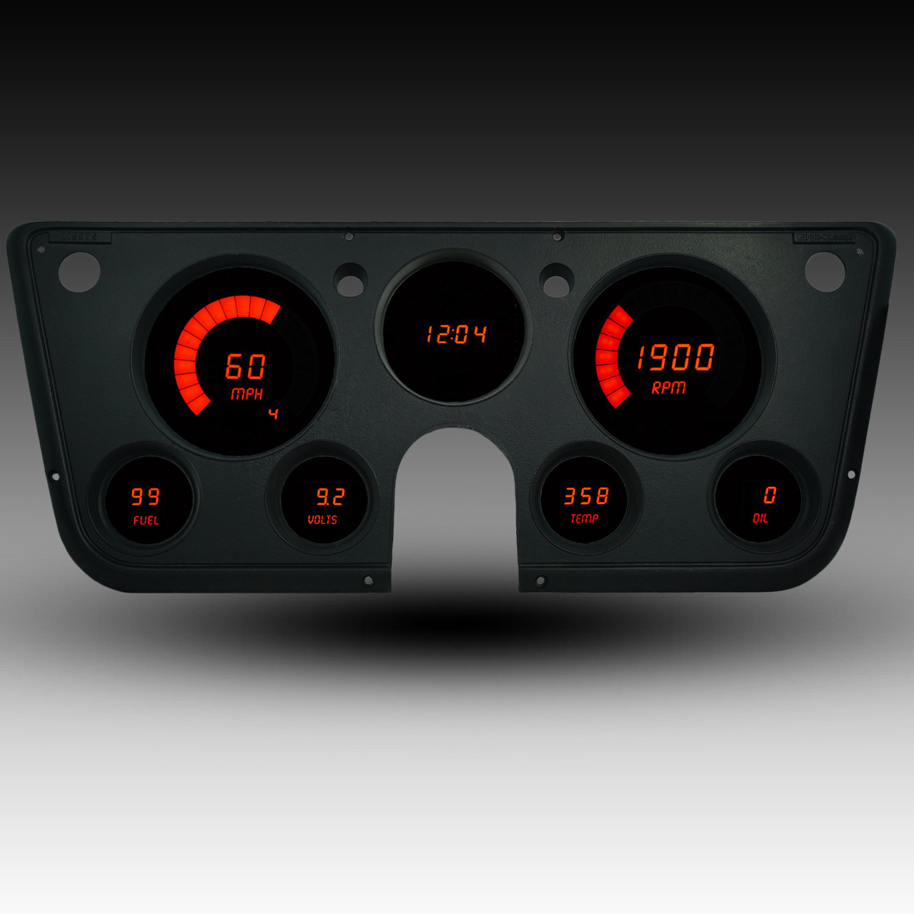 1967-72 Chevy Truck LED Digital Gauge Panel - RED
