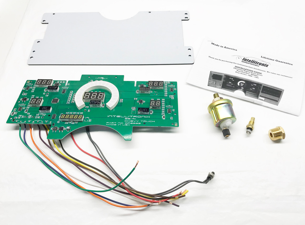 1988-91 Chevy Truck LED Digital Gauge Panel KIT