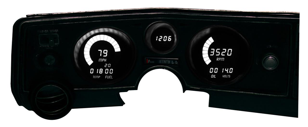 1969 Chevy Chevelle LED Digital Gauge Panel DP5002