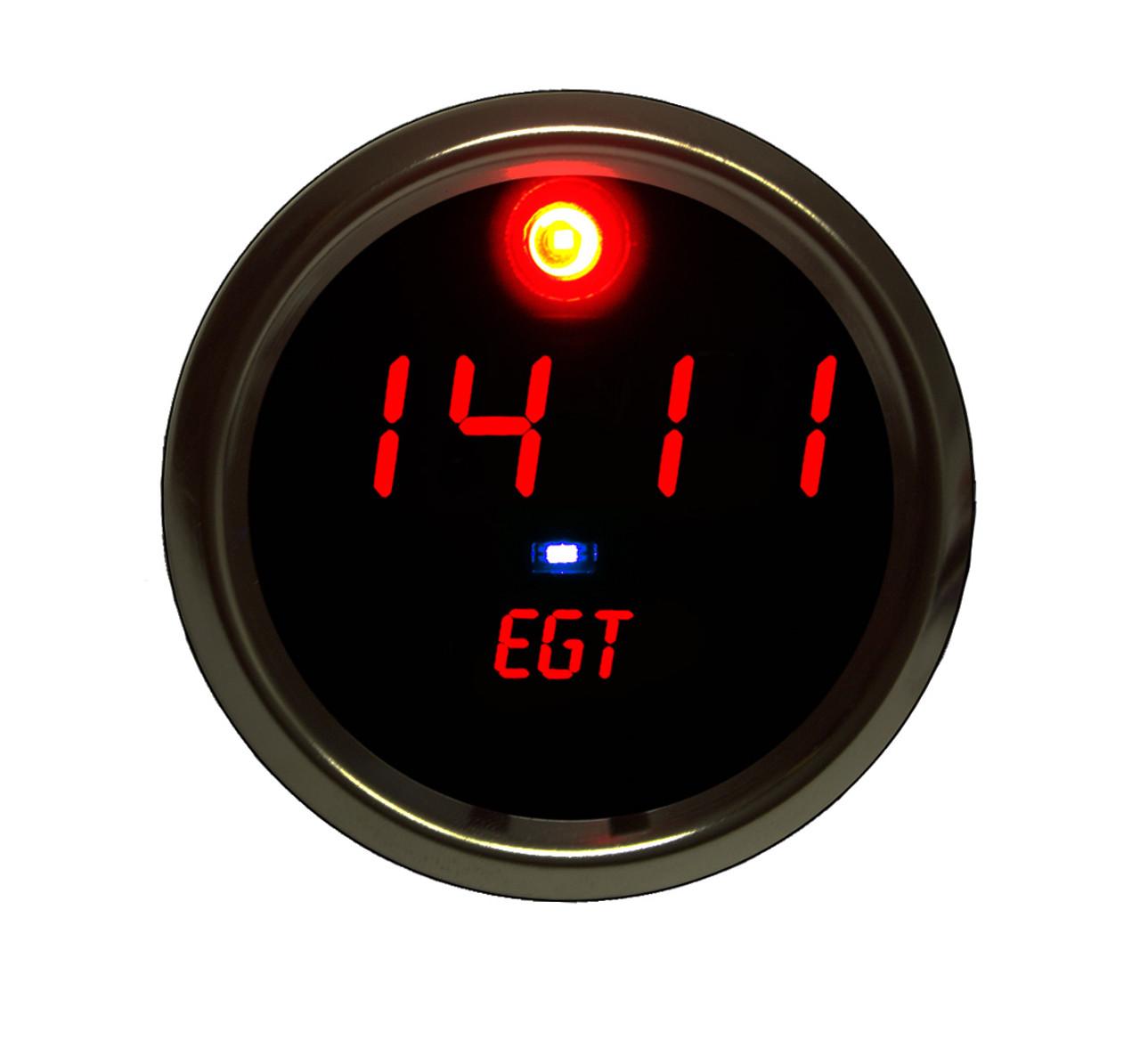 EGT Programmable Co-Pilot Gauge Chrome Bezel - RED