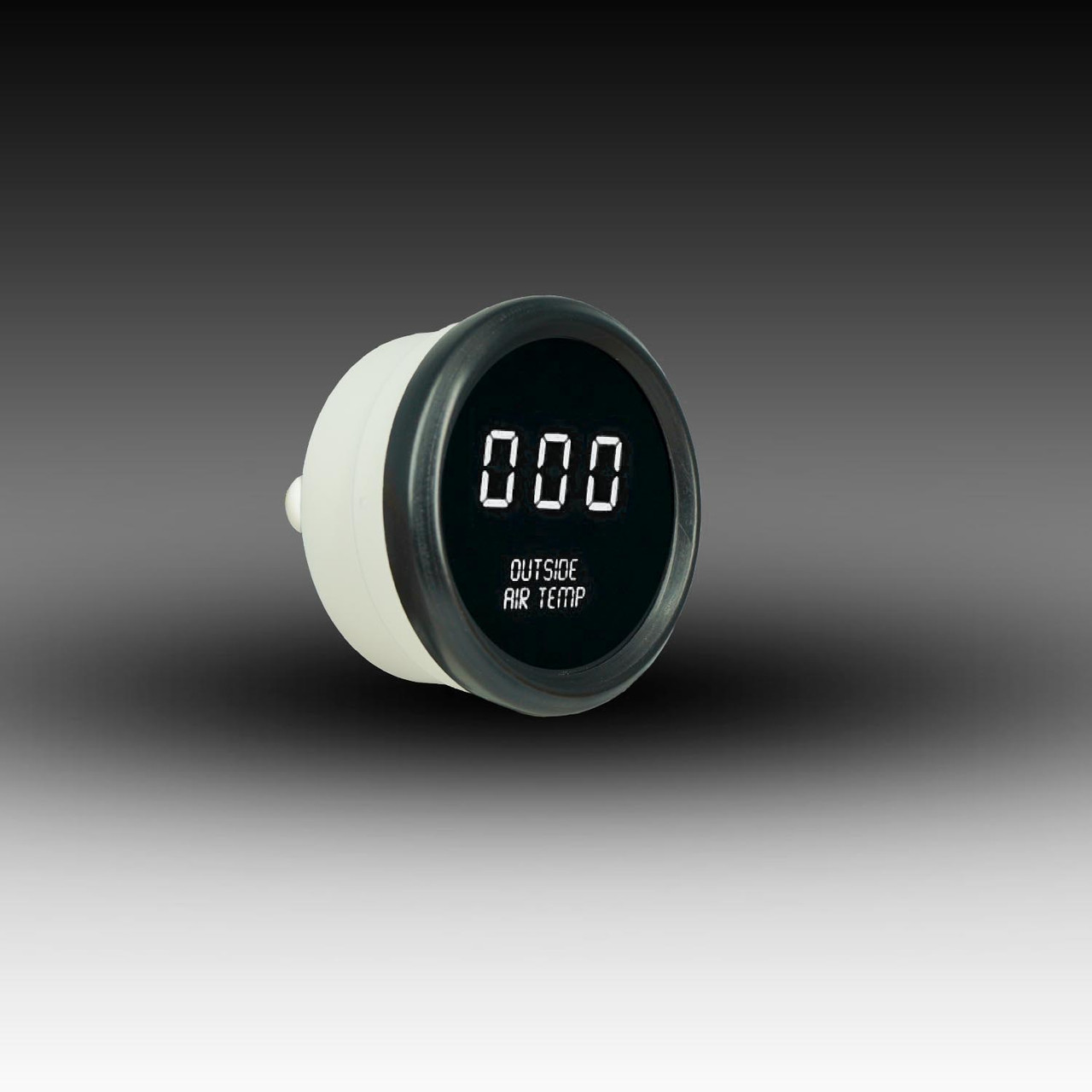 Outside Air Temperature LED Digital Black Bezel - WHITE