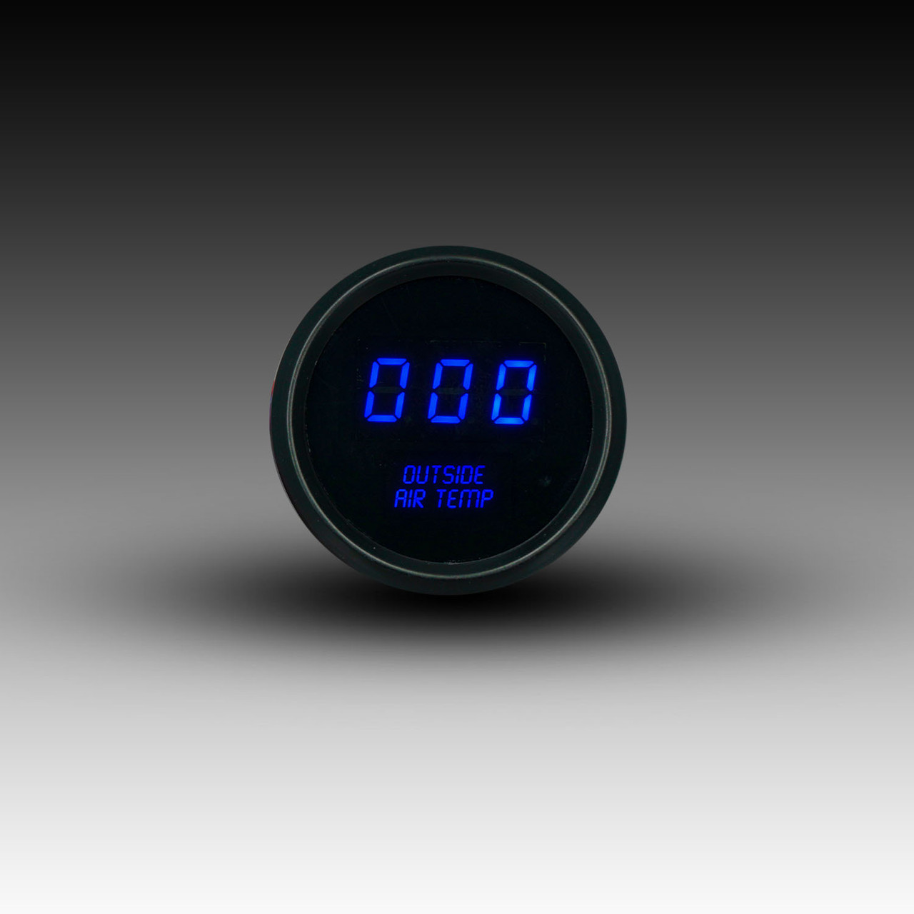 Outside Air Temperature LED Digital Black Bezel - BLUE