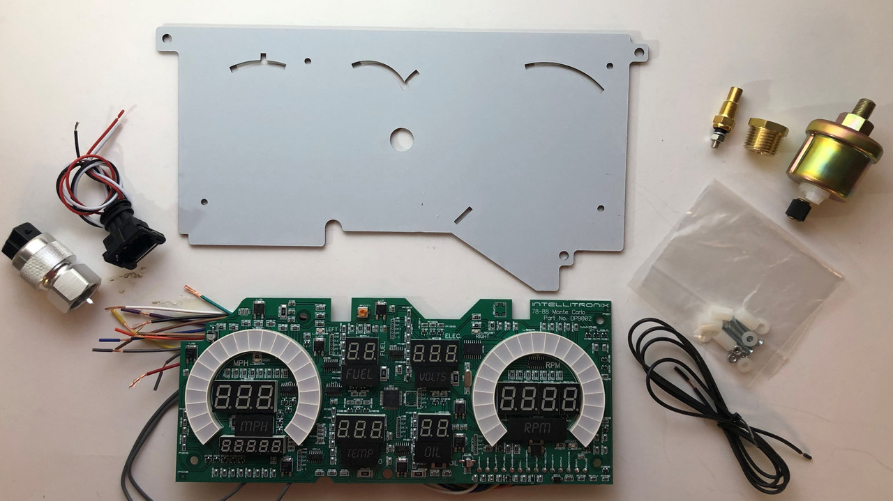 1978-1988 Monte Carlo-El Camino LED Digital Gauge Panel KIT