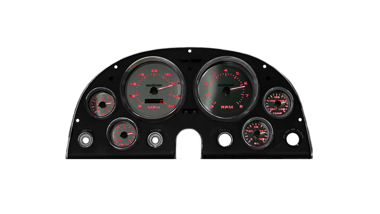 1963-1967 Chevy Corvette 3D Analog Gauge Panel - RED