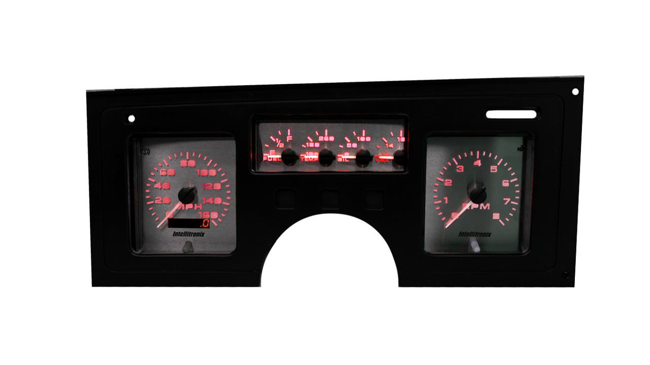 1984-1989 Chevy Corvette 3D Analog Gauge Panel - RED