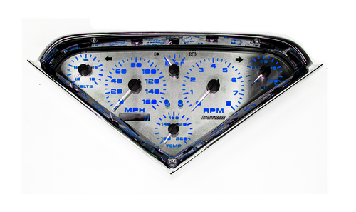 1955-1959 Chevy Truck 3D Analog Gauge Cluster - BLUE