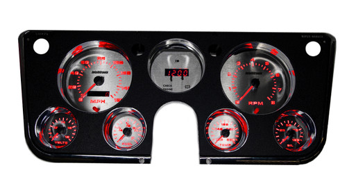 1967-1972 Chevy Truck 3D Analog Gauge Panel - RED