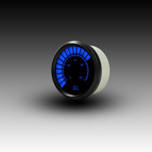 Oil Pressure Analog LED Bargraph Black Bezel – BLUE