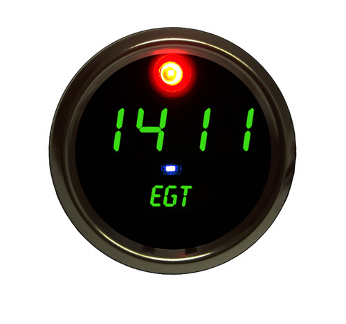 EGT Programmable Co-Pilot Gauge Chrome Bezel - GREEN
