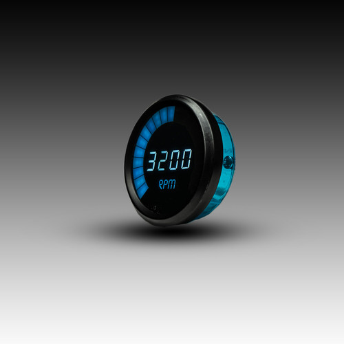 Memory Tachometer LED Digital Bargraph Black Bezel - BLUE