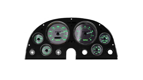 1963-1967 Chevy Corvette 3D Analog Gauge Panel - GREEN